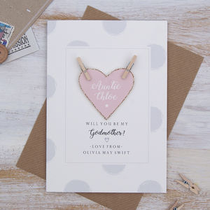 Personalised Will You Be My God Mother Card - be my godparent?