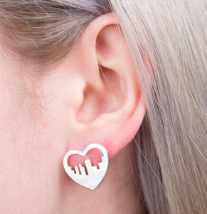 City Skyline Heart Earrings