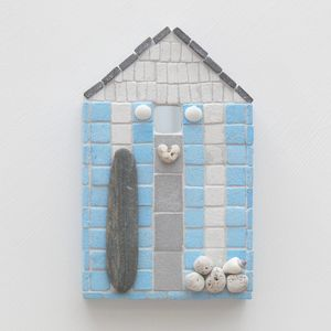 Surfer's Beach Hut Mosaic Wall Art