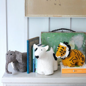 Felt Animal Bookends - office & study