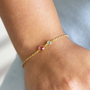 Mother And Daughter Birthstone Bracelet - gifts for mothers
