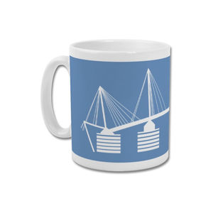 'Eastlands Approach' Minimalist Manchester City Mug - dining room