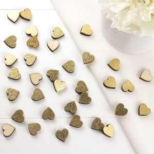 Gold Scatter Hearts For Weddings And Occasions - confetti, petals & sparklers