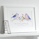 Personalised Bird Family Print