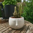 Ceramic Face Plant Pot