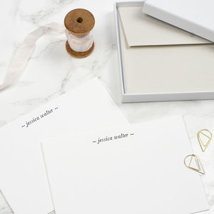 Personalised Letterpress Notecards - diaries, stationery & books