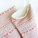 Fairisle Linen Christmas Stocking