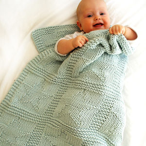 Baby Star Blanket Beginner's Knitting Kit 100% Cotton