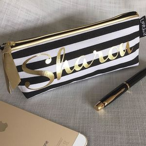 Personalised 'Stripe' Make Up Case