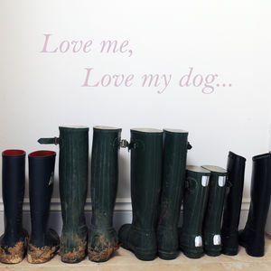 'Love Me Love My' Dog Or Horse Wall Sticker - dining room