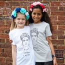 Frida Kahlo Kids T Shirt Organic Cotton