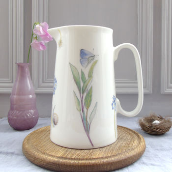 Herb Garden Bone China Jug