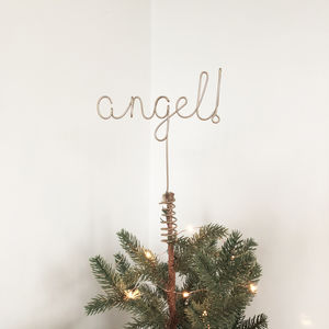 Angel! Word Christmas Tree Topper - tree toppers
