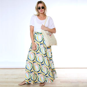 Stained Glass Bamboo Wrap Skirt