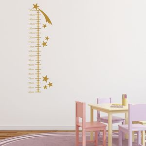 Shooting Stars Growth Chart Wall Sticker - children's room