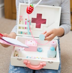 Children's Personalised Wooden Doctors Set - traditional toys & games