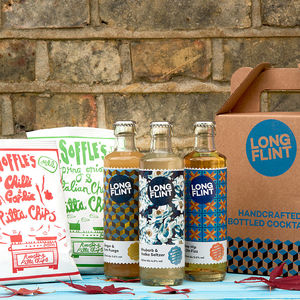 Craft Cocktail And Soffles Pitta Chips Gift Box - gin
