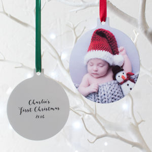 Personalised Babys First Christmas Hanging Decoration - gifts for babies & children