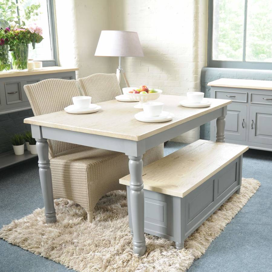Lille Grey Painted Dining Table Furniture