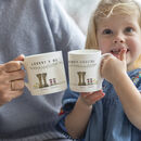 Personalised Welly Boot Granny And Me Mug Set