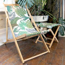 Tropical Palm Print Garden Deckchair