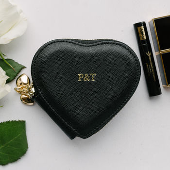 Personalised Real Leather Heart Coin Purse