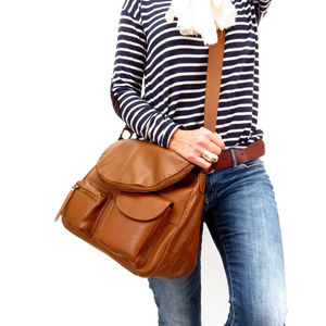 Mali Leather Slouchy Messenger Bag