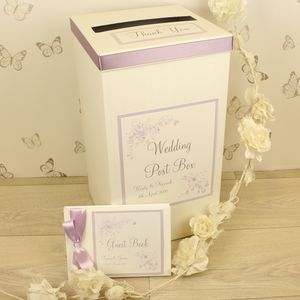 Personalised Jessica Wedding Post Box - wedding post boxes