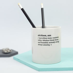 Personalised Dictionary Definition Desk Tidy - desk accessories