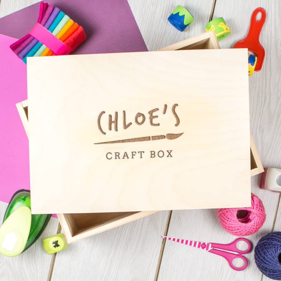 Personalised Engraved Children's Art And Craft Box