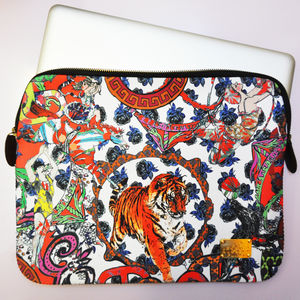 Crazy Circus Print Laptop Case In Giftbag - laptop bags & cases
