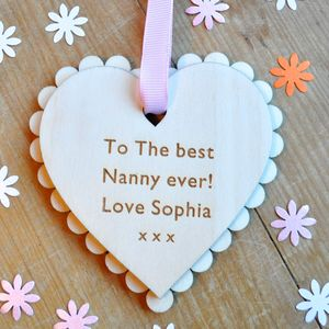 Personalised Nanny Mother's Day Heart