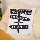 Personalised Lots Of Love From Me To You Cushion