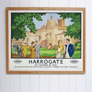 Original Harrogate L.N.E.R Late Art Deco Travel Poster
