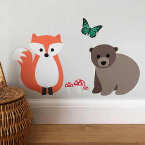 Woodland Wall Sticker Set - wall stickers