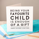 Black Foiled 'Favourite Child' Father's Day Card
