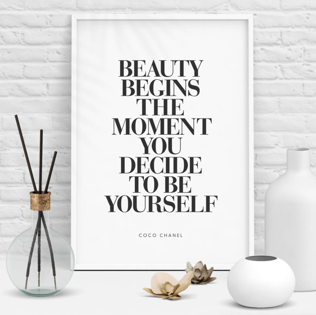 Coco Chanel Fashionista Art Typography Print by The Motivated Type