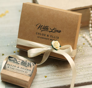 'Personalised 'With Love' Stamps' - wedding favours