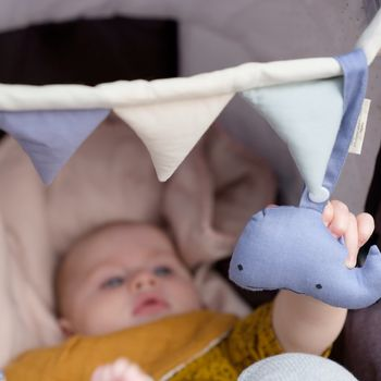 Organic Whale Baby Pram Toy Rattle