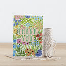 Floral Pattern Thank You Greeting Card