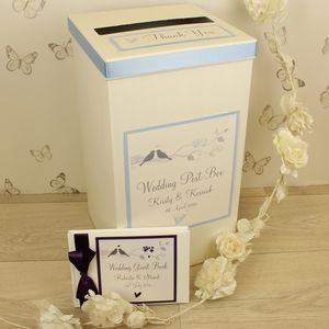 Personalised Amore Wedding Post Box - winter sale