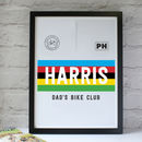 Personalised 'World Champion' Cycling Jersey Print
