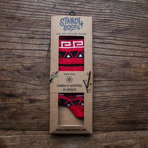 Aztec Red Health Bamboo Sock - winter sale