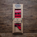 Aztec Red Bamboo Calf Socks