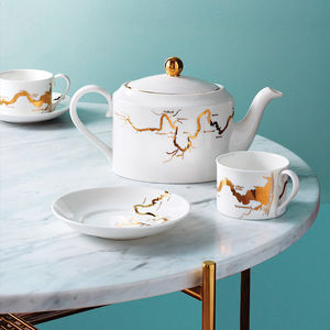 Thames Tea Set In Gold - gifts for grandparents