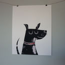 Happy Dog Mono Screenprints