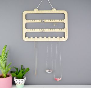 Handmade Earring And Necklace Hanger And Organiser - hooks, pegs & clips