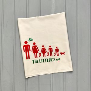 Personalised Christmas Tea Towel - kitchen accessories