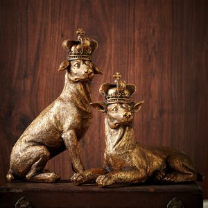Gold Regal Dog Ornaments - summer sale