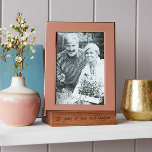 Copper Photo Frame With Personalised Stand - on trend: copper
